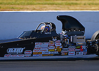 Jun 10, 2016; Englishtown, NJ, USA; NHRA comp eliminator driver Doug Doll Jr during qualifying for the Summernationals at Old Bridge Township Raceway Park. Mandatory Credit: Mark J. Rebilas-USA TODAY Sports