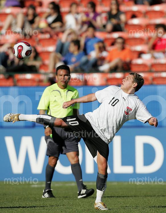 Fussball International U 20 WM  Kongo vs Austria Zlatko JUNUZOVIC (AUT).