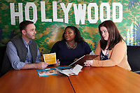 LOS ANGELES - MARCH 28: David Beeler, Kai Carter, Jennifer Louisell at General Counseling - client photo shoot at the Actors Fund on March 28, 2019 in Los Angeles, California