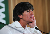 08/10/2015; UEFA Euro 2016 Group D Qualifier - Republic of Ireland v Germany, Aviva Stadium, Dublin. <br /> Germany manager Joachim Low during the post match press conference<br /> Picture credit: Tommy Grealy/actionshots.ie.