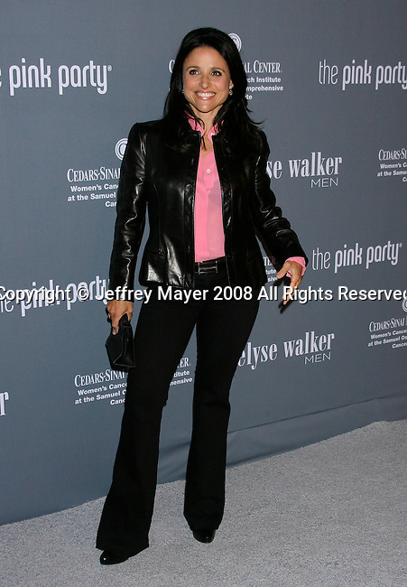 SANTA MONICA, CA. - September 13: Actress Julia Louis-Dreyfus arrives at the 4th Annual Pink Party at Barker Hanger on September 13, 2008 in Santa Monica, California.
