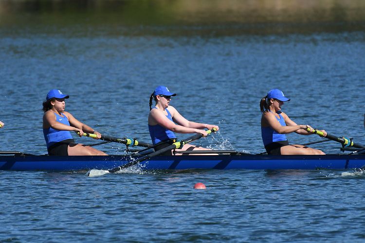 May 13, 2017; Gold River, CA, USA; II Eight Creighton Blue Jays during the WCC Rowing Championships at Lake Natoma.