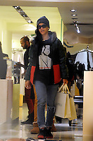 November 17th 2012..Rihanna was spotted browsing through several luxury lingerie shops in Paris, including lingerie stores Chantal Thomass where she spent 850 Eur and La Perla 1600 Euros...****** BYLINE MUST READ : © Spread Pictures ******..****** No Web Usage before agreement ******..****** Stricly No Mobile Phone Application or Apps Use Without our Prior Agreement ******..Enquiries at photo@spreadpictures.com