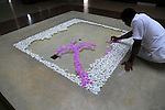Frangipani petal picture in waterAmaya Beach Resort and Spa hotel, Pasikudah Bay, Eastern Province, Sri Lanka, Asia