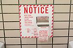 A roll of smartphone screen wipes in a bathroom at Narita International Airport on March 7, 2017, Chiba, Japan. As part of a special promotion, NTT Docomo has installed 86 special roll dispensers in seven restrooms at Narita airport.The sheets give instructions on how to connect to DoCoMo wi-fi and travel guide app JSPEAK. The idea came about because smart phone screens are said to have more germs than toilet seats. The rolls are available until March 15, 2017. (Photo by Rodrigo Reyes Marin/AFLO)