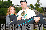 The winners, Anthony and Frances Greaney, are delighted to be crowned the Irish wife-carrying champions 2011.