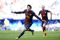 FUSSBALL  INTERNATIONAL  PRIMERA DIVISION  SAISON 2011/2012   26. Spieltag  El Clasico   Real Madrid  - FC Barcelona        02.03.2013 JUBEL, Lionel Messi (Barca) nach seinem Tor zum 1-1 Ausgleich