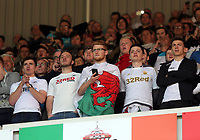 SUNDERLAND, ENGLAND - MAY 13: Swansea supporters during the Premier League match between Sunderland and Swansea City at the Stadium of Light, Sunderland, England, UK. Saturday 13 May 2017