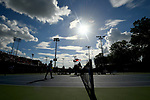 WINSTON SALEM, NC - MAY 22: The Wake Forest Demon Deacons take on the Ohio State Buckeyes during the Division I Men's Tennis Championship held at the Wake Forest Tennis Center on the Wake Forest University campus on May 22, 2018 in Winston Salem, North Carolina. Wake Forest defeated Ohio State 4-2 for the national title. (Photo by Jamie Schwaberow/NCAA Photos via Getty Images)