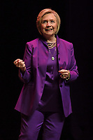 FORT LAUDERDALE FL - OCTOBER 03: Hillary Clinton speaks during her promotional book tour for What Happened at The Broward Center on October 3, 2017 in Fort Lauderdale, Florida.<br /> CAP/MPI04<br /> &copy;MPI04/Capital Pictures