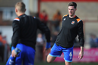 Blackpool's Ben Heneghan during the pre-match warm-up <br /> <br /> Photographer Kevin Barnes/CameraSport<br /> <br /> The EFL Sky Bet League One - Fleetwood Town v Blackpool - Saturday 7th March 2020 - Highbury Stadium - Fleetwood<br /> <br /> World Copyright © 2020 CameraSport. All rights reserved. 43 Linden Ave. Countesthorpe. Leicester. England. LE8 5PG - Tel: +44 (0) 116 277 4147 - admin@camerasport.com - www.camerasport.com