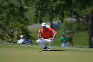 Bethesda, MD - June 29, 2014: Ben Martin prepares fo his putt on the 8th hole during the Final Round of the Quicken Loans National at the Congressional Country Club in Bethesda, MD, June, 29, 2014.   (Photo by Don Baxter/Media Images International)