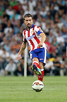 Gabi of Atletico de Madrid during La Liga match between Real Madrid and Atletico de Madrid at Santiago Bernabeu stadium in Madrid, Spain. September 13, 2014. (ALTERPHOTOS/Caro Marin)