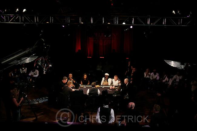 "Salt Lake City, UT --1/23/08--.Brian ""Kato"" Kaelin, Daniel Baldwin, John Salley, Rachel Smith, Miguel A. Núñez, Jr., Matt Hughes, Mars Callahan, and Mikey Scottt, during the Celerity Investments charity celebrity poker  tournament at Harry O's during the 2008 Sundance Film Festival...********.. .Photo by Chris Detrick/The Salt Lake Tribune.frame #_E1M6527."