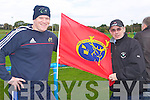FLYING THE FLAG: Paul McMahon and Mike Keane flying the flag for Munster at .O'Dowd Park, Tralee on Saturday..