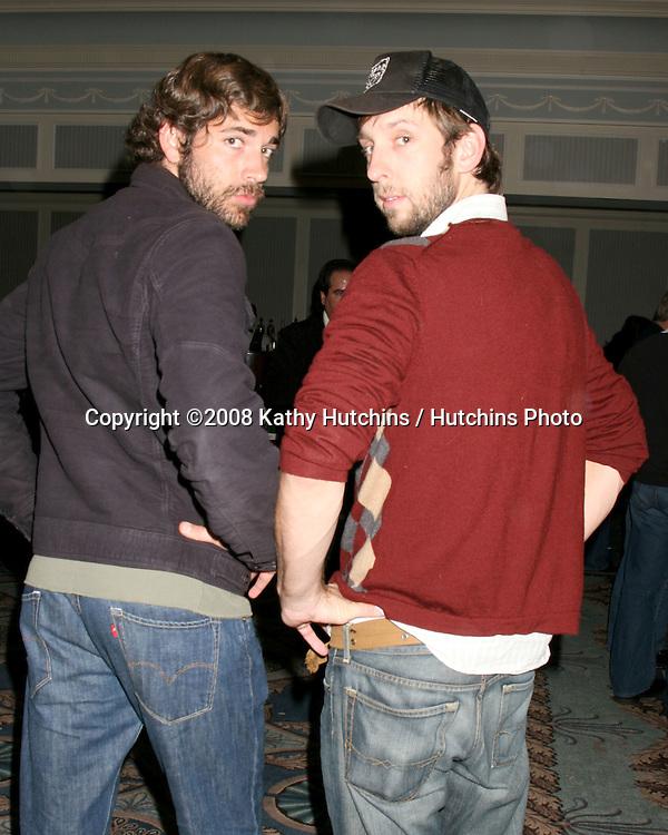 Zachary Levi & Joel Moore.Anchor Bay Casino Night.Santa Monica, CA.January 6, 2008.©2008 Kathy Hutchins / Hutchins Photo...