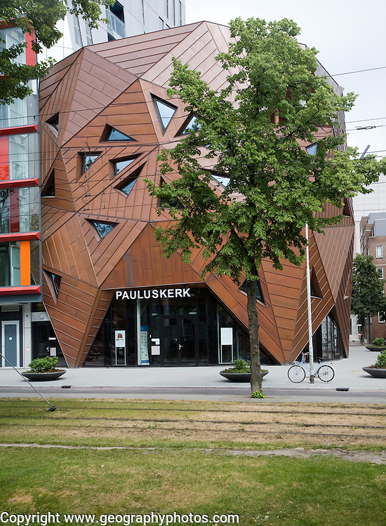 Modern architecture Nieuwe Pauluskerk, Rotterdam, Netherlands, opened June 2013 designed by British architect Will Alsop