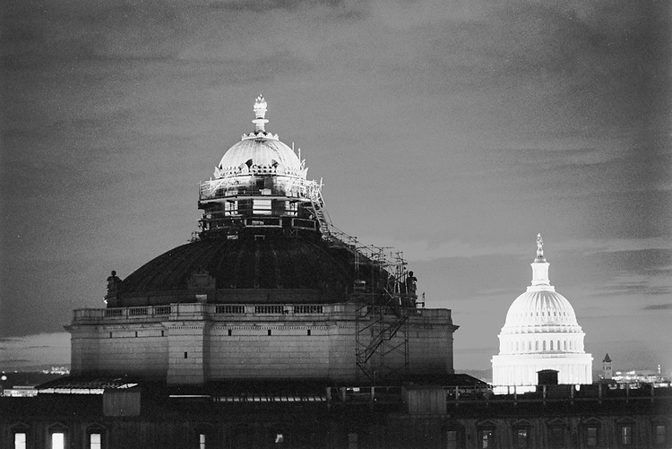 Library of Congress, Jefferson Building and the Capitol Dome