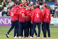 Aaron Beard celebrates taking the wicket of Gareth Roderick during Essex Eagles vs Gloucestershire, Royal London One-Day Cup Cricket at The Cloudfm County Ground on 7th May 2019