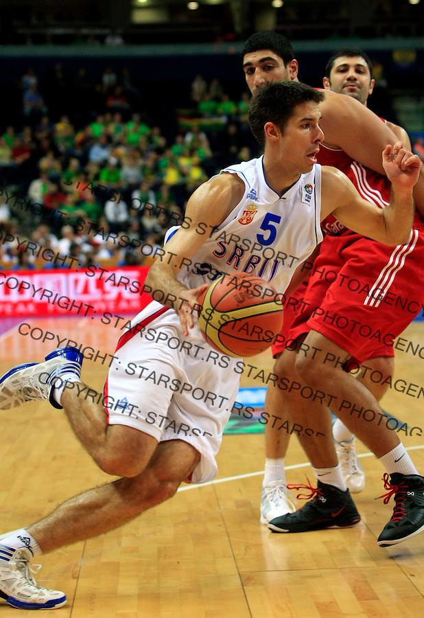 Milenko Tepicduring round 2, group E, basketball game between Serbia and Turkey in Vilnius, Lithuania, Eurobasket 2011, Sunday, September 11, 2011. (photo: Pedja Milosavljevic)