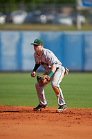Dartmouth Big Green second baseman Sean Sullivan (4) during a game against the Bradley Braves on March 21, 2019 at Chain of Lakes Stadium in Winter Haven, Florida.  Bradley defeated Dartmouth 6-3.  (Mike Janes/Four Seam Images)