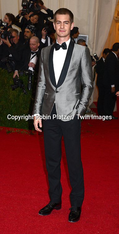 Andrew Garfield  attends the Costume Institute Benefit on May 5, 2014 at the Metropolitan Museum of Art in New York City, NY, USA. The gala celebrated the opening of Charles James: Beyond Fashion and the new Anna Wintour Costume Center.