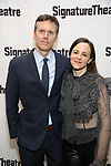 Will Eno and Maria Dizzia attends the Off-Broadway Opening Night of the Signature Theatre's 'Thom Pain' at the Signature Theatre on November 11, 2018 in New York City.
