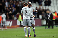 Victor Lindelof and Paul Pogba of Manchester United after West Ham United vs Manchester United, Premier League Football at The London Stadium on 10th May 2018