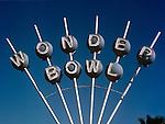 Wonder Bowl bowling alley sign in Inglewwod, CA