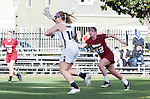 Los Angeles, CA 02/08/13 - Kelly Rich  (Northwestern #14) and Kelsey Sheridan  (Umass #32) in action during the Northwestern vs UMass NCAA Women's Lacrosse game at USC's McAlister Field.