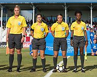 Bradenton, FL - Sunday, June 12, 2018: Referee during a U-17 Women's Championship Finals match between USA and Mexico at IMG Academy.  USA defeated Mexico 3-2 to win the championship.