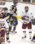 Brian Boulay, Matt Johnson, Joe Adams - Boston College defeated Merrimack College 3-0 with Tim Filangieri's first two collegiate goals on November 26, 2005 at Kelley Rink/Conte Forum in Chestnut Hill, MA.