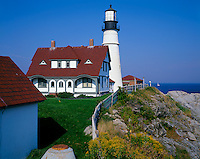 Cumberland County, ME<br /> Portland Head Lighthouse (1791) on Cape Elizabeth, Mines's oldest lighthouse