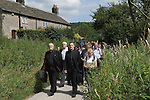 The annual Padley Martyrs Roman Catholic Pilgrimage. Pilgrims walk from Grindleford train station to Padley Chapel. Grindleford, Derbyshire  UK 2008.