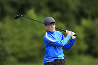 Colm Shivnan (Athenry) on the 1st tee during the Connacht U12, U14, U16, U18 Close Finals 2019 in Mountbellew Golf Club, Mountbellew, Co. Galway on Monday 12th August 2019.<br /> <br /> Picture:  Thos Caffrey / www.golffile.ie<br /> <br /> All photos usage must carry mandatory copyright credit (© Golffile | Thos Caffrey)