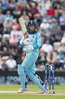 Joe Root (England) misses out on an attempted pull to  a short Sheldon Cottrell (West Indies) delivery during England vs West Indies, ICC World Cup Cricket at the Hampshire Bowl on 14th June 2019