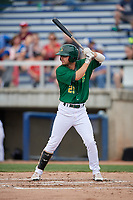 Beloit Snappers first baseman Jack Meggs (23) at bat during a game against the Dayton Dragons on July 22, 2018 at Pohlman Field in Beloit, Wisconsin.  Dayton defeated Beloit 2-1.  (Mike Janes/Four Seam Images)