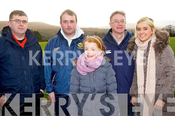 Pictured at the McGrath Cup semi-final, Kerry v CIT on Sunday were l-r: Tommy Finnegan (Barraduff) Gary Murphy (Milltown) Emma Brosnan (Newmarket) Gerry O'Shea (Killorglin) and Aisling O'Shea (Killorglin)