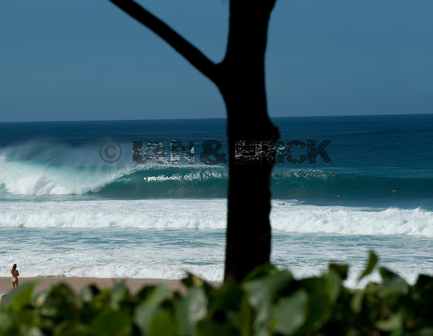 Empty wave at Pipeline on the Northshore of Oahu in Hawaii.