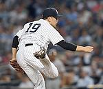 Masahiro Tanaka (Yankees), JUNE 9, 2015 - MLB : New York Yankees starting pitcher Masahiro Tanaka throws the ball during a baseball game against the Washington Nationals at Yankee Stadium in New York, United States. (Photo by AFLO)