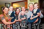 Baby Evan O'Sullivan with his parents Kasia & Mark O'Sullivan, Listowel, god parents Kasia Hanas & Patrick O'Brien and sisters Debbie & Amy who was christened in St. Mary's Church, Listowel by Canon Declan O'Connor on Saturday last and afterwards at The Saddle Bar, Listowel.