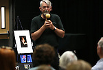 Kevin Burns speaks at a ceremony honoring the late Marilee Swirczek at Western Nevada College in Carson City, Nev., on Thursday, July 28, 2016. <br />