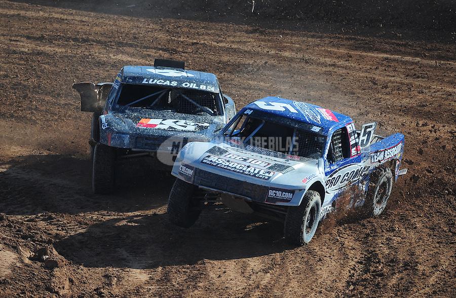 Dec. 10, 2011; Chandler, AZ, USA;  LOORRS pro 4 unlimited driver Doug Fortin during round 15 at Firebird International Raceway. Mandatory Credit: Mark J. Rebilas-