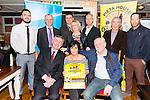Front L-R Ciaran Brady (Chief Fundraiser Pieta House Ireland), Marie and Denis O'Carroll, Back L-R Kevin O'Callaghan, Pat O'Sullivan (Kerry Chief Superintendent), Chris Manton, Marie Peelo (Pieta House), John Drinan (Electric Ireland), Weeshie Fogarty and Mairtin Driver at the launch of Nathan's Walk Darkness into Light sponsored by Electric Ireland at the Porterhouse, Killarney last Tuesday evening.