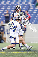 Annapolis, MD - February 11, 2017: Navy Midshipmen Ryan Kern (24) tries to save the ball during game between Maryland vs Navy at  Navy-Marine Corps Memorial Stadium in Annapolis, MD.   (Photo by Elliott Brown/Media Images International)