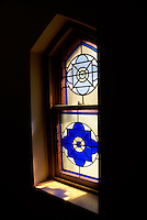 Stained glass window in Trinity Church in the city of Saint John, New Brunswick, Canada