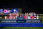Jockeys pose for photos as part of International Jockeys Championship during Hong Kong Racing at Happy Valley Race Course on December 06, 2017 in Hong Kong, Hong Kong. Photo by Marcio Rodrigo Machado / Power Sport Images