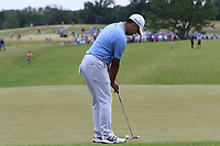 Si Wo Kim (KOR) birdie putt on the 8th green during Saturday's Round 3 of the 117th U.S. Open Championship 2017 held at Erin Hills, Erin, Wisconsin, USA. 17th June 2017.<br /> Picture: Eoin Clarke | Golffile<br /> <br /> <br /> All photos usage must carry mandatory copyright credit (&copy; Golffile | Eoin Clarke)