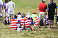 Patriotic fans during Saturday's Round 3 of the 117th U.S. Open Championship 2017 held at Erin Hills, Erin, Wisconsin, USA. 17th June 2017.<br /> Picture: Eoin Clarke | Golffile<br /> <br /> <br /> All photos usage must carry mandatory copyright credit (&copy; Golffile | Eoin Clarke)