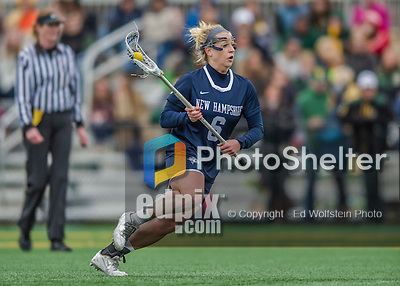25 April 2015: University of New Hampshire Wildcat Midfielder Rachael Nock, a Senior from Severna Park, MD, in action against the University of Vermont Catamounts at Virtue Field in Burlington, Vermont. The Lady Catamounts defeated the Lady Wildcats 12-10 in the final game of the season, advancing to the America East playoffs. Mandatory Credit: Ed Wolfstein Photo *** RAW (NEF) Image File Available ***